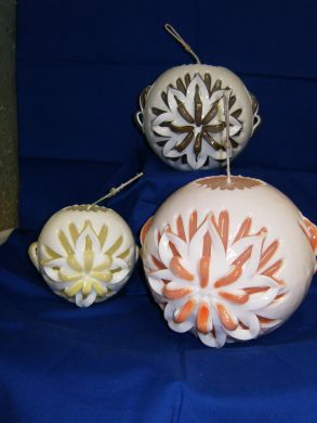 Sculptured Ball Candles