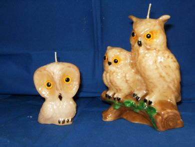 Double Horned Owl Candle